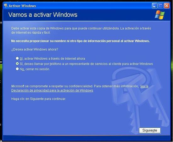 """vamos"" a activar Windows... ¡No, gracias!"